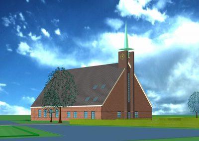 Nieuwbouw kerk HHG Schoonrewoerd